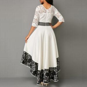 Robe Blanche et Noire de Soirée Robe Blanche et Noire Femme Robe Blanche Soirée Blanche