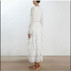 Robe Blanche Longue Dentelle Robe Blanche Longue Femme Robe Blanche Robe Blanche Dentelle Soirée Blanche
