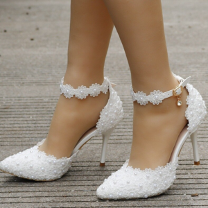 Chaussure Blanche Femme Mariage   Soirée Blanche