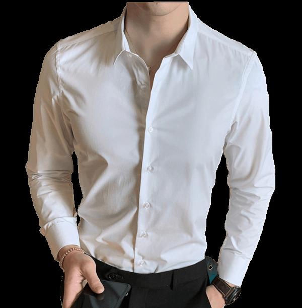 Chemise Blanche Homme S à 8XL Chemise Blanche Homme Haut Blanc Soirée Blanche
