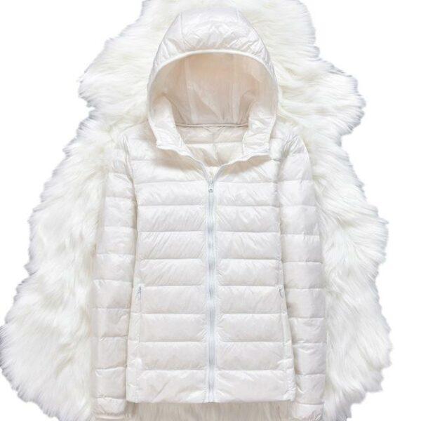 Manteau Doudoune Blanche Femme | Soirée Blanche