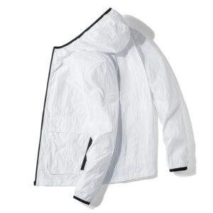 Coupe Vent Blanc Homme Veste Blanche Homme Haut Blanc Soirée Blanche