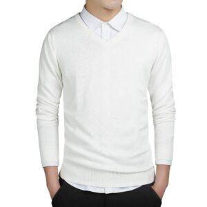 Pull Blanc Col V Homme Pull Blanc Homme Haut Blanc Soirée Blanche