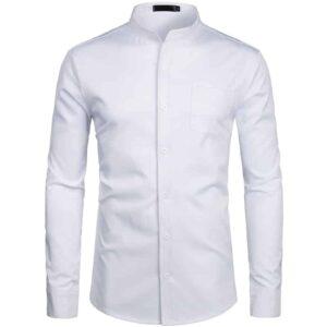 Chemise Blanche Col Inversé Chemise Blanche Homme Haut Blanc Soirée Blanche