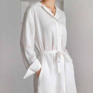 Chemise Longue Blanche Femme Chemise Blanche Femme Haut Blanc Soirée Blanche