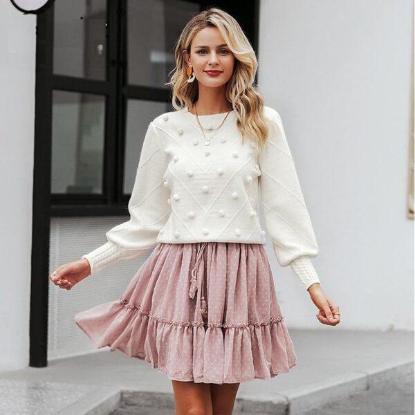 Gros Pull Femme Blanc Pull Blanc Femme Haut Blanc Soirée Blanche