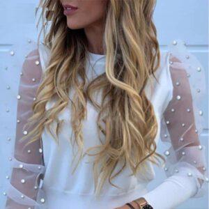 Haut Blanc Manches Bouffantes Pull Blanc Femme Haut Blanc Soirée Blanche