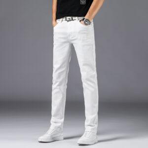 Jean Blanc Denim Homme Pantalon Blanc Homme Bas Blanc Soirée Blanche