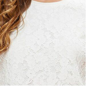 Haut Blanc Dentelle Tee Shirt Blanc Haut Blanc Soirée Blanche
