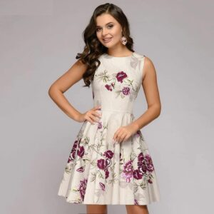 Robe Blanche A Fleur Robe Blanche Courte Femme Robe Blanche Soirée Blanche