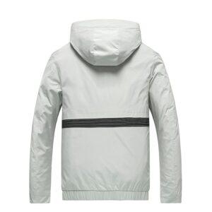 Veste Capuche Blanche Homme Veste Blanche Homme Haut Blanc Soirée Blanche