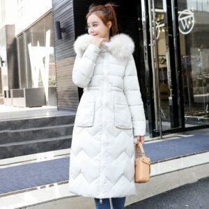 Manteau Femme Blanc Capuche Fourrure Manteau Blanc Femme Haut Blanc Soirée Blanche