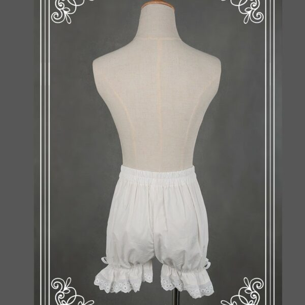 Bloomer Blanc Short Blanc Femme Bas Blanc Soirée Blanche