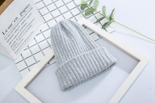 Bonnet Blanc Sans Pompon Accessoires Blancs Soirée Blanche