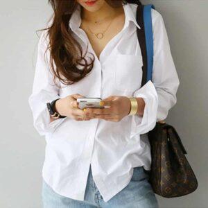 Chemise Blanche Femme Chemise Blanche Femme Haut Blanc Soirée Blanche