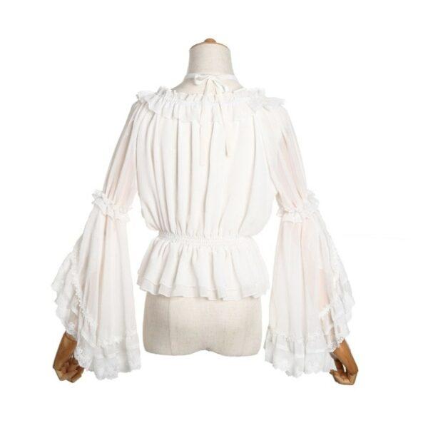 Chemisier Cosplay Femme Chemisier Blanc Femme Haut Blanc Soirée Blanche