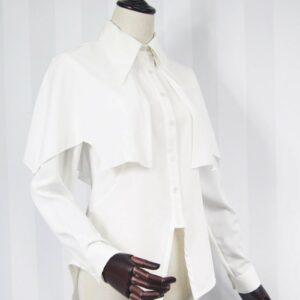 Chemisier Gothique Blanc Chemisier Blanc Femme Haut Blanc Soirée Blanche