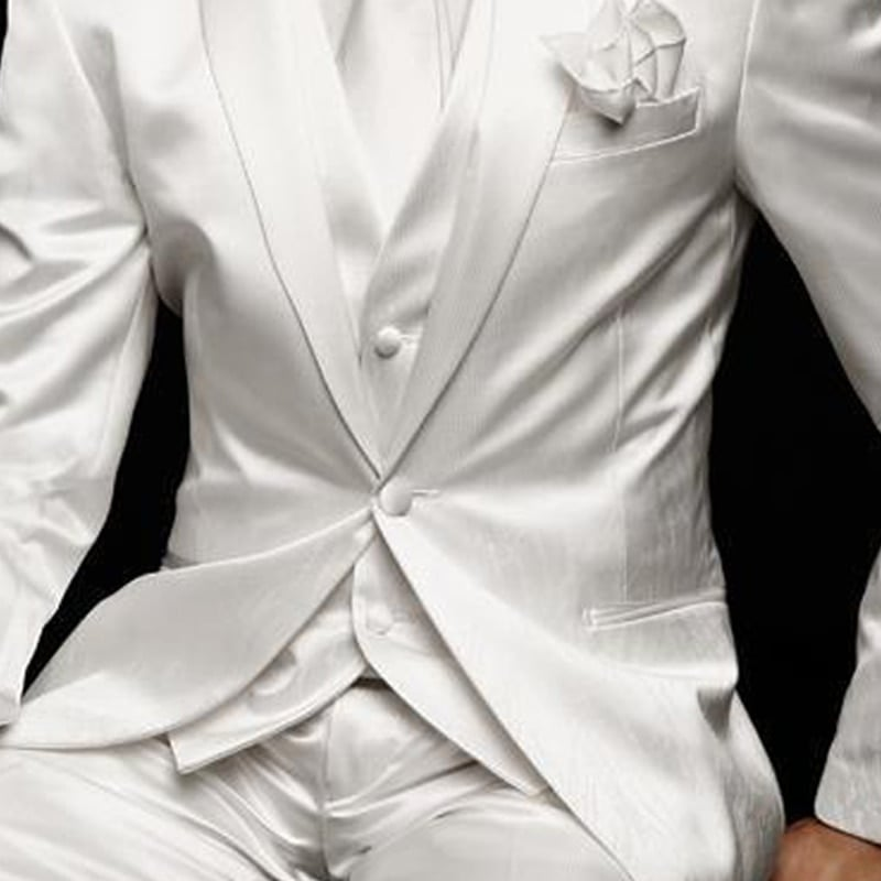 Costume Blanc Homme Mariage | Soirée Blanche