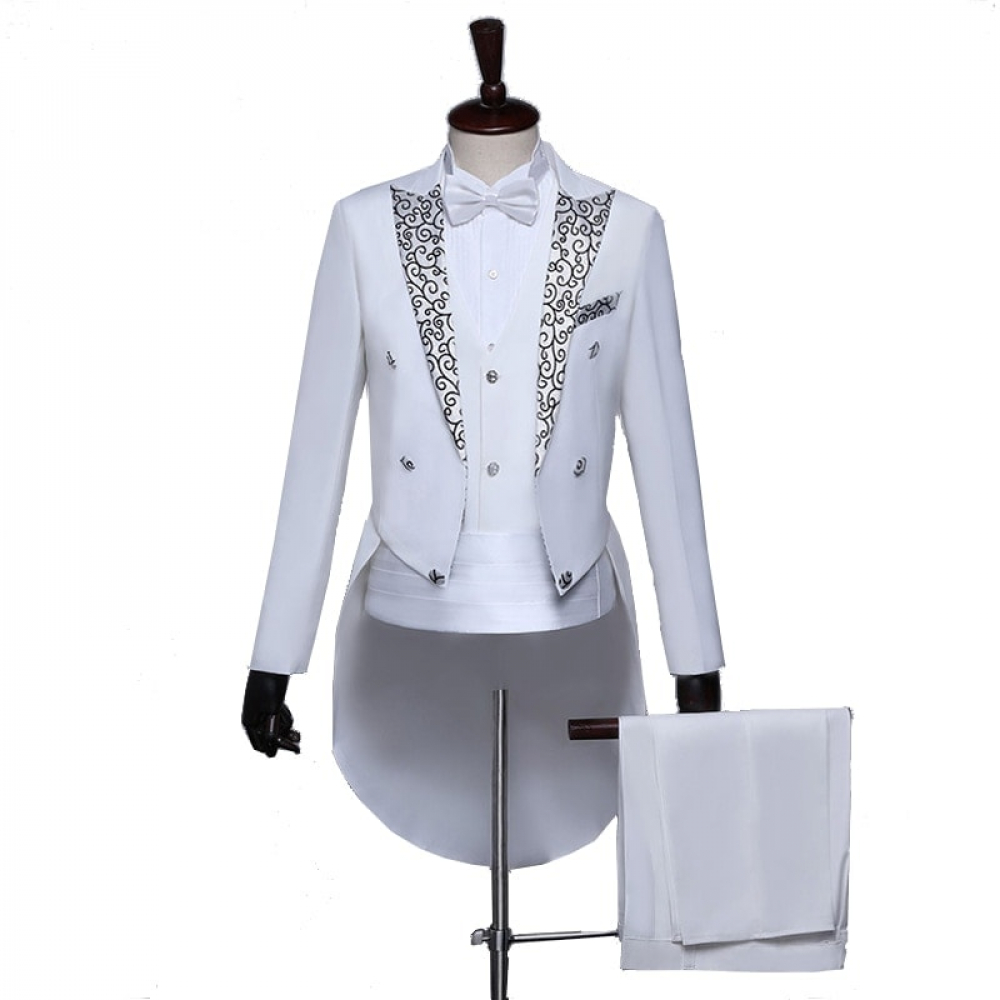 Costume Homme Blanc Brillant Costume Blanc Homme Soirée Blanche