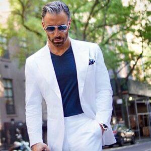 Costume Marié Blanc Costume Blanc Homme Soirée Blanche