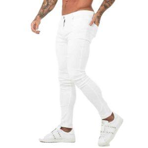 Jean Blanc Slim Pantalon Blanc Homme Bas Blanc Soirée Blanche