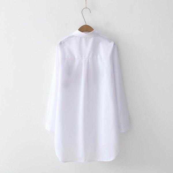 Longue Chemise Blanche Femme Chemise Blanche Femme Haut Blanc Soirée Blanche