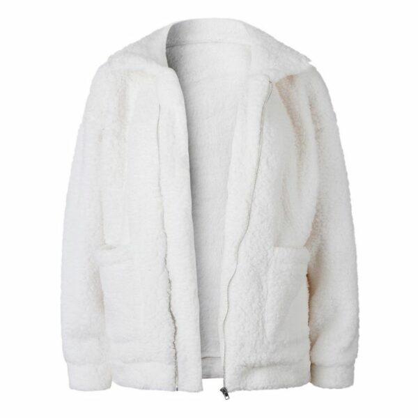 Manteau Blanc Fausse Fourrure Femme Manteau Blanc Femme Haut Blanc Soirée Blanche