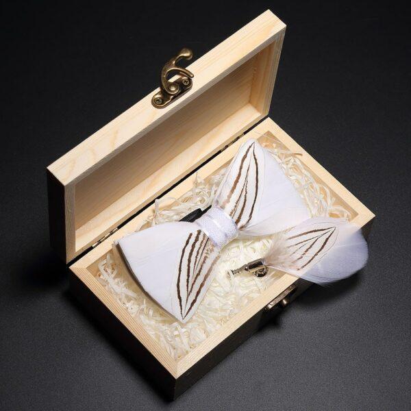 Nœud Papillon de Mariage Accessoires Blancs Soirée Blanche