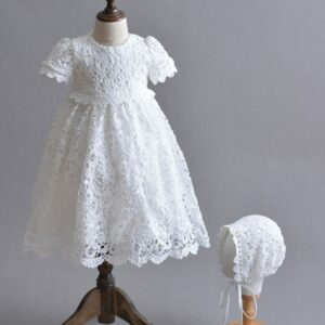Robe Blanche Bapteme Bebe Fille Soiree Blanche