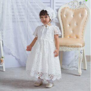 Robe Blanche Baptême Bébé Fille Fille Enfant Soirée Blanche