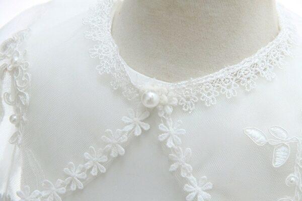 Robe Blanche Cérémonie Bébé Fille Fille Enfant Soirée Blanche