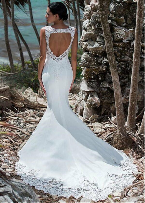 Robe De Mariage Sirène Blanche Robe de Mariage Blanche Femme Robe Blanche Soirée Blanche