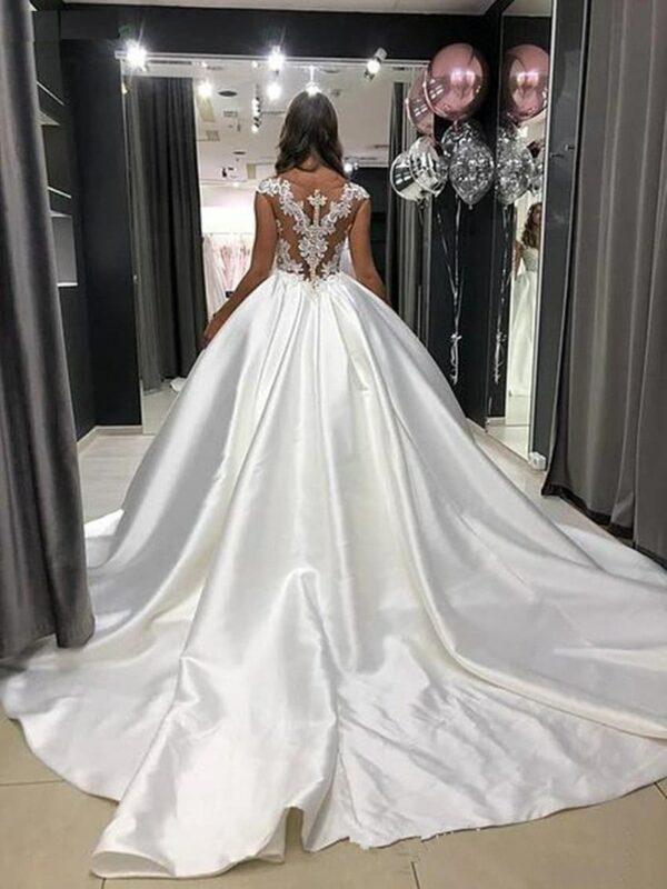 Robe De Princesse Mariage Robe de Mariage Blanche Femme Robe Blanche Soirée Blanche