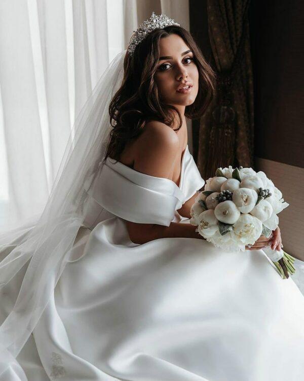 Robe Longue De Mariage Robe de Mariage Blanche Femme Robe Blanche Soirée Blanche