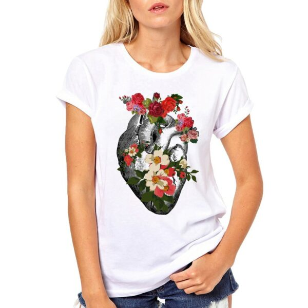 Tee Shirt Blanc Cœur Tee Shirt Blanc Femme Haut Blanc Soirée Blanche