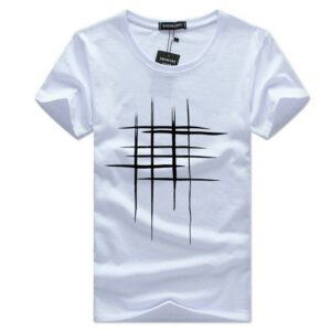 Tee Shirt Graphique Homme Tee Shirt Blanc Homme Haut Blanc Soirée Blanche