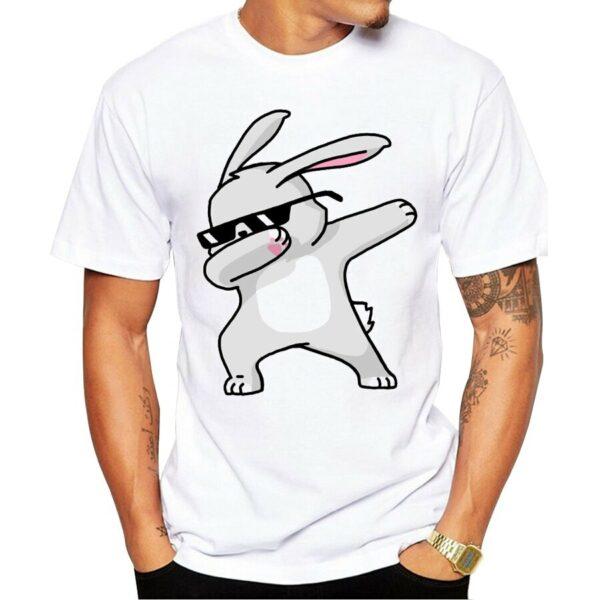 Tee Shirt Homme Animaux Dab Tee Shirt Blanc Homme Haut Blanc Soirée Blanche