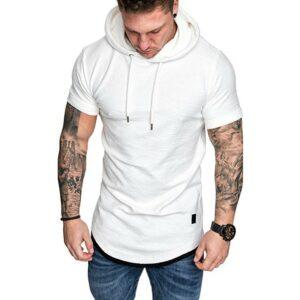 Tee Shirt Homme Long Blanc Tee Shirt Blanc Homme Haut Blanc Soirée Blanche