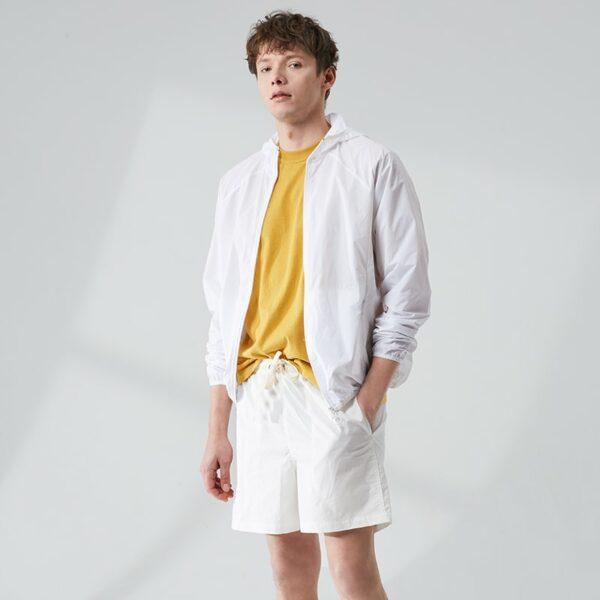 Veste Pluie Sport Homme Blanche Veste Blanche Homme Haut Blanc Soirée Blanche