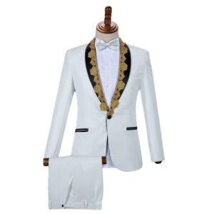 Costume Mariage Blanc Et Or Costume Blanc Homme a7796c561c033735a2eb6c: Blanc|Bleu|Bleu + pantalon noir|Noir|Rouge|Rouge + pantalon noir Soirée Blanche