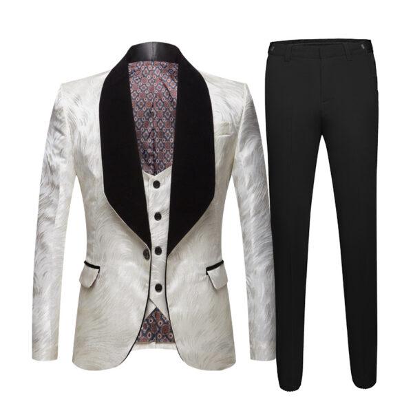 Costume Noir Et Blanc Original Costume Blanc Homme Soirée Blanche
