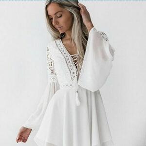 robe blanche dentelle boheme