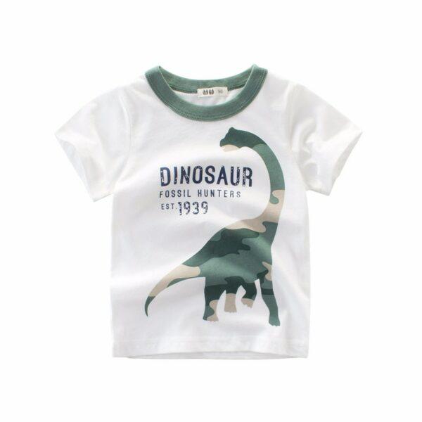 Tee Shirt Blanc Motif Engin Garçon 16 | Soirée Blanche