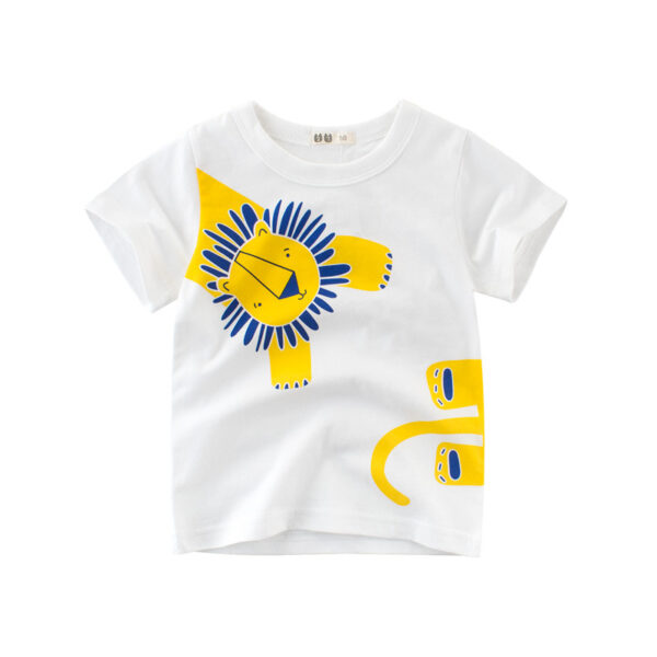 Tee Shirt Blanc Motif Engin Garçon 25   Soirée Blanche