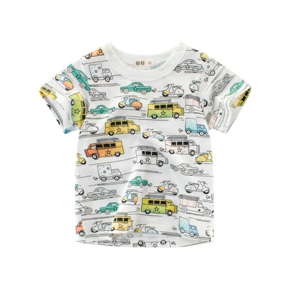 Tee Shirt Blanc Motif Engin Garçon 13 | Soirée Blanche
