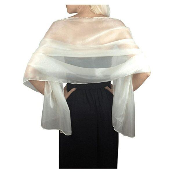 Châle de Mariage Blanc 13 | Soirée Blanche