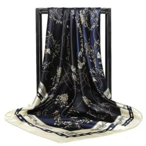 Foulard En Soie Noir Et Blanc 85 | Soirée Blanche