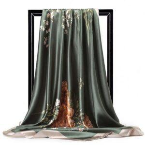 Foulard En Soie Noir Et Blanc 123 | Soirée Blanche