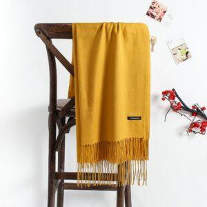 Écharpe Blanche Cachemire 60 | Soirée Blanche