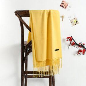 Écharpe Blanche Cachemire 46 | Soirée Blanche